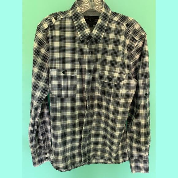 Black Label Other - Men's Blue Plaid Shirt